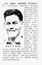 Newspaper Clipping – The Toronto Star, March 2, 1945, page 9