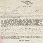 Letter dated 3 March 1943