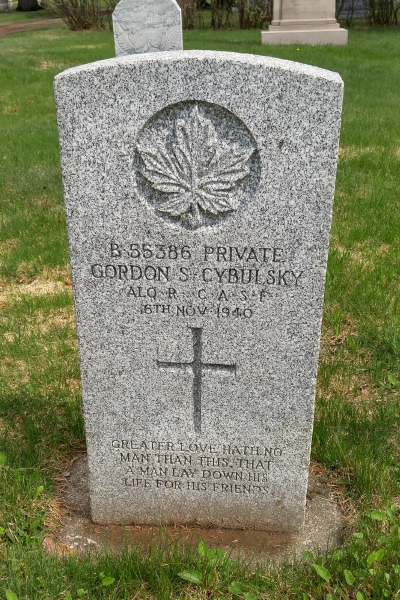 Grave marker – Thunder Bay St Andrew's RC Cemetery … May 2018 … photo courtesy of Marg Liessens