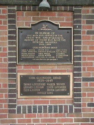 Memorial – Memorial, Rodney Ontario