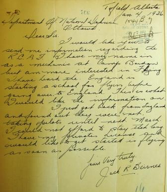 Letter – Letter from Beirnes