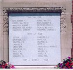 War Memorial – Cenotaph at Niagara-on-the-Lake, Ontario comemmorating those of the area who lost their lives in the First and Second World War.