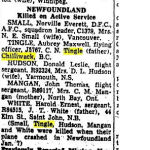 "Newspaper Clipping – Toronto Star ""Pages of Past"" online archive 1943 Jan 16  p.2