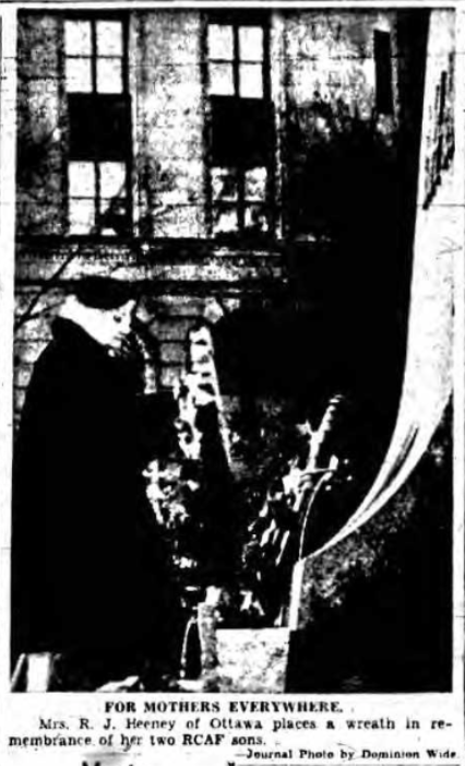 Newspaper Clipping – Mrs Margaret Heeney Silver Cross Mother 1954. Submitted for the project, Operation Picture Me
