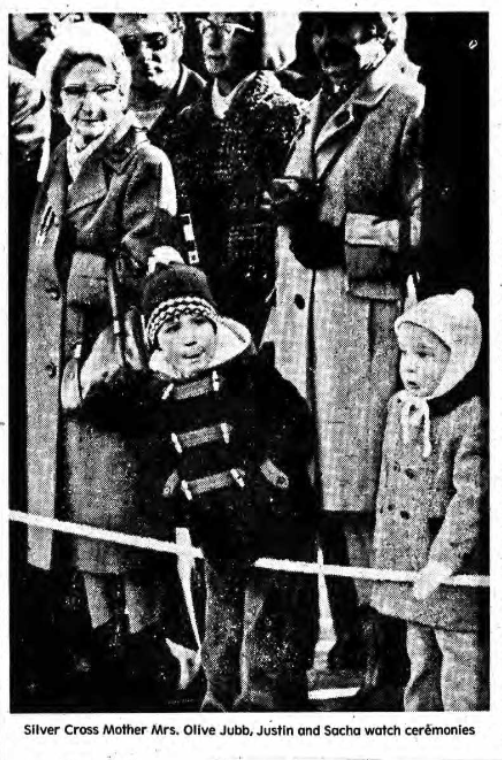 Newspaper Clipping – Mrs Olive Rae (Jubb) Silver Cross Mother 1976. Submitted for the project, Operation Picture Me