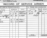 Service Record – Record of Service for Leo DesChamps