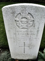 Grave Marker – The grave marker at the Dieppe Canadian War Cemetery located approximately 5 km. from the beach of Dieppe, France. May he rest in peace. (K. Falconer & J. Stephens)