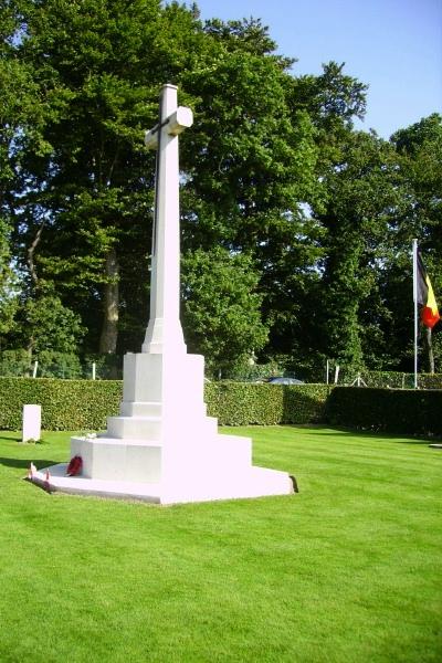 Cemetery – Cross of Sacrifice - Dieppe Canadian War Cemetery - August 2012 Photo courtesy of Marg Liessens