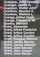 Memorial – Pilot Officer Walter John Gramson is also commemorated on the Bomber Command Memorial Wall in Nanton, AB … photo courtesy of Marg Liessens
