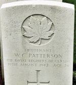 Grave Marker – The grave marker at the Dieppe Canadian War Cemetery located approximately 5 km. from the beach of Dieppe, France. May he rest in peace. (J. Stephens)