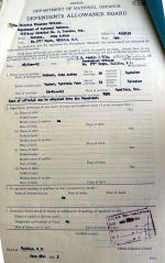 Document – This request for a Marriage Allowance for his wife shows the place and date of marriage. They were married just after he got his Sgt's. Stripes and before he left for England on 26 June 43.  A very short marriage, unfortunately.   Source: Library and Archives Canada via R. Whitehouse