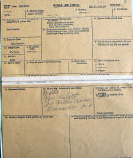 Document – Cobbett's service and NOK details from his RAF Form 373.  Note that he was married 19 June 1943.  He was 20 and she was 19.  Source: Library and Archives Canada via R. Whitehouse