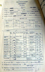 Document – Report Card (p1) from #2 AGGTS Trenton (11 Jun 43) the day he was promoted to Sgt and had his photo taken.  See (p2) for comments by his instructors.  Source: Library and Archives Canada via R. Whitehouse