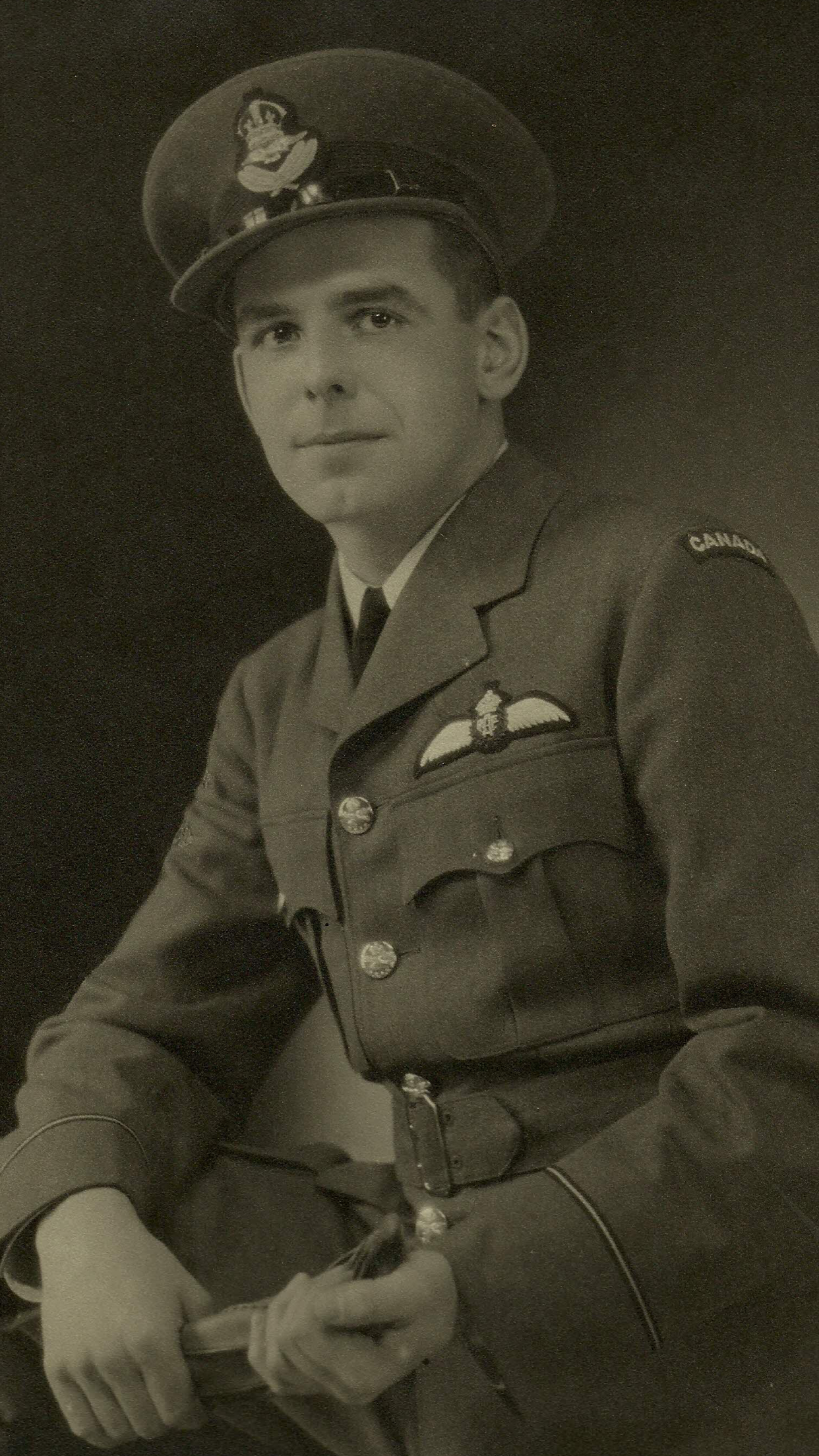 """Photo of Paul Martin Roche – My much loved Great Uncle, Paul M Roche, Lancaster Bomber Pilot, RCAF. He """"never flew in any other state but the state of grace."""""""