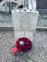 Ceremony – Paul's medals placed on his tombstone during a VE ceremony in Blâmont on May 10th, 2019, united 75 years later. Lest we forget