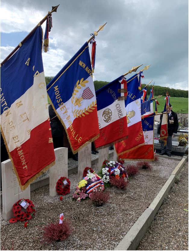 Ceremony – Ceremony in Blâmont for the 75th anniversary of the plane crash and saving of the town on May 10th, 2019.