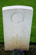 Grave Marker – A photograph of the headstone at the Bretteville-sur-Laize Canadian War Cemetery, located 20 kilometres south of Caen, France. May he rest in peace. (J. Stephens)