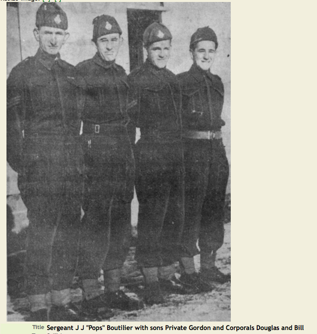 Group Photo – Son of 1977 Silver Cross Mother Mary Boutilier. Submitted for the project, Operation Picture Me