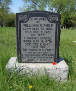 Memorial – Memorial Tombstone for Harold G. Philp, Scotch Cemetery, Manilla, Ontario