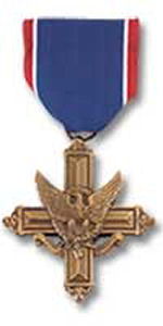 Distinguished Service Cross – Awarded posthumously for actions during the World War II The President of the United States of America, authorized by Act of Congress, July 9, 1918, takes pride in presenting the Distinguished Service Cross (Posthumously) to Private Robert V. Secord, Canadian Army, for extraordinary heroism in connection with military operations against an armed enemy in action against enemy forces on 14 August 1944, near Estreos-la-Champaigne, France. As his platoon of the 1st Battalion, Cameron Highlanders of Ottawa (MG) was advancing under a heavy and sustained artillery and mortar barrage, Private Secord carried out his duties as medical orderly coolly and skillfully. Caught in a shellburst while dressing the wounds of a sergeant, he threw himself across his body to shield him from further injury, thereby sacrificing his life. General Orders: Headquarters, European Theater of Operations, U.S. Army, General Orders No. 263 (September 25, 1945) Action Date: 14-Aug-44 Service: Canadian Army Rank: Private Battalion: 1st Battalion Regiment: Cameron Highlanders of Ottawa (MG)