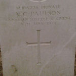 Grave marker – Photo provided by The Commonwealth Roll Of Honour Project. Volunteer Colin Jones
