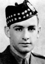 Photo of Hugh MacLeod – MacLeod, Hugh Murray - Major, Born 1st January, 1919, at Glace Bay, N.S, Educated at New Glasgow High School, Entered the service of the Bank 19th July, 1937. Served at New Glasgow. On active service with The Pictou Highlanders 21st August, 1940, in the rank of Lieutenant. Captain in May, 1943; Major in September, 1943. Transferred to The North Nova Scotia Highianders (M.G.) in January, 1941, Overseas in 1941. Took commando training in Scotland. Returned to Canada and served with 1st Canadian Paratroop Battalion at Fort Benning, Ga,, U.S.A., and later at Camp Shilo, Man. Overseas with his Unit in September, 1943, Led his Company on D-Day as pathfinders for Airborne Division.  Killed in action 7th June, 1944, at Varieville, Normandy.  (Major MacLeod was an outstanding athlete, winning Dominion championship honours, and captaining the New Glasgow football and track teams.) From a memorial booklet prepared by the Canadian Bank of Commerce.
