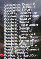 Memorial – Sergeant Archibald Don Gordon is also commemorated on the Bomber Command Memorial Wall in Nanton, AB … photo courtesy of Marg Liessens