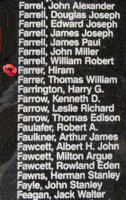 Memorial – Pilot Officer Hiram Farrer is also commemorated on the Bomber Command Memorial Wall in Nanton, AB … photo courtesy of Marg Liessens