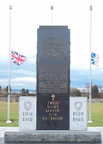 Monument – Monument found in Stephenville, Newfoundland commemorating those who served in the first and second world wars.