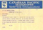 Telegram – Telegram notifying mother of Fritz's death