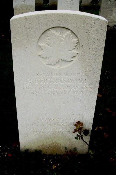 Grave Marker – Grave marker - Vis-en-Artois British Cemetery … photo courtesy of Marg Liessens