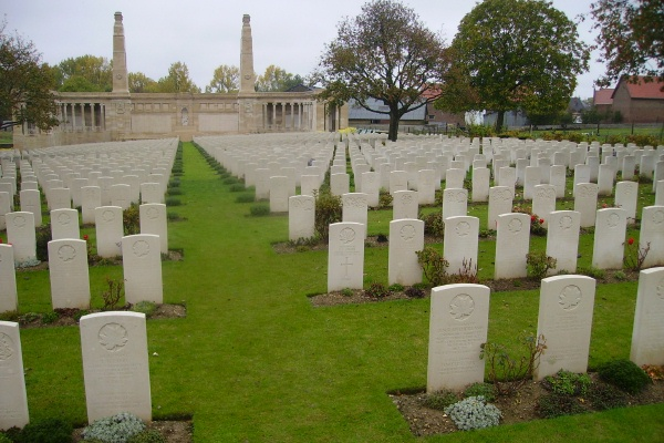 Cemetery – Vis-en-Artois British Cemetery … photo courtesy of Marg Liessens