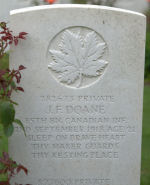 Grave Marker – Final resting place of great uncle James in Vis-en-Artois.  Taken August 2012.
