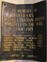 Memorial – Canadian Buffs Memorial, Canterbury Cathedral, Canterbury, Kent