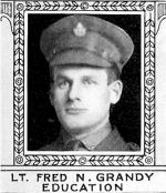 Photo of Frederick Grandy – From: The Varsity Magazine Supplement Fourth Edition 1918