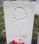 Grave Marker – Tombstone of Lieutenant A.F. McKinlay