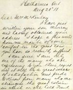 Letter, Page 1 – Letter of Condolence to Mrs. McKinlay (Frank's mother), side 1