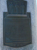 Inscription – The plaque on the War Memorial-Cheticamp, Nova Scotia, Canada.