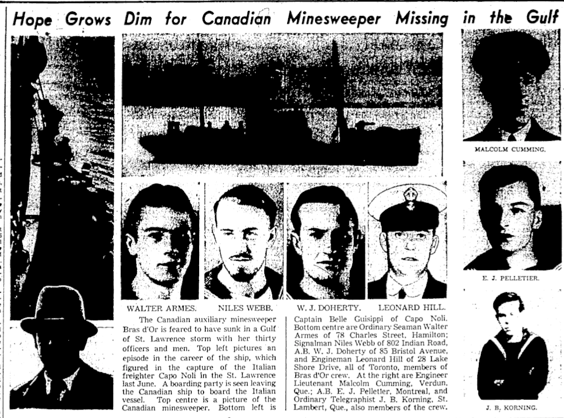 Newspaper Clipping – Memorialized on the pages of the Globe and Mail. Submitted for the project, Operation Picture Me