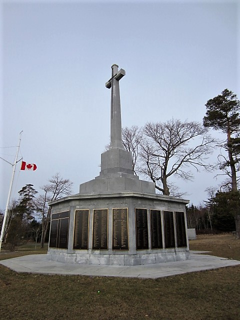 Halifax Memorial – The Halifax Memorial at Point Pleasant in Halifax, Nova Scotia, Canada, on which Robert Hampton Gray's name is inscribed.