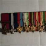Medals – Picture of the mess dress medals attributed to R. H. Gray, according to his service records.