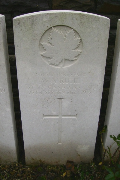 Duplicate – Grave marker - Ontario Cemetery, Sains-les-Marquion … photo courtesy of Marg Liessens