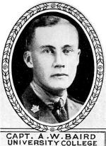 Photo of Alexander Baird – From: The Varsity Magazine Supplement Fourth Edition 1918