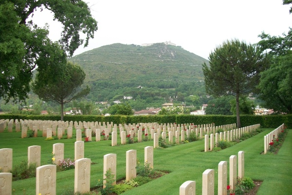 Cemetery – Cassino War Cemetery - May 2013 … Photo courtesy of Marg Liessens