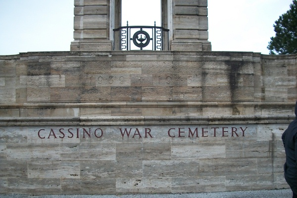 Entrance – Entrance - Cassino War Cemetery - May 2013 … Photo courtesy of Marg Liessens