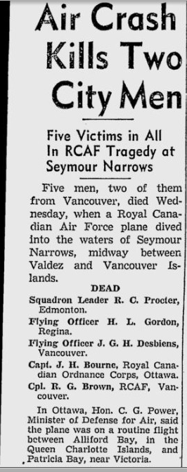 Newspaper clipping – From the Vancouver Sun.  Submitted for the project, Operation: Picture Me