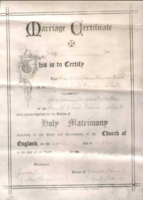 Marriage Certificate – Submitted for the project, Operation Picture Me