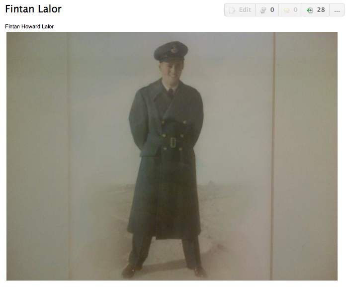 Photo of Finton Lalor – Submitted for the project, Operation: Picture Me