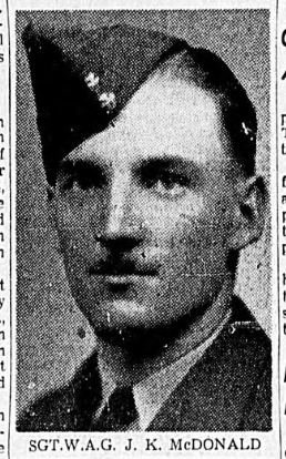Photo of JOFFRE KITCHENER MCDONALD – In memory of the men and women memorialized on the pages of the Winnipeg Evening Tribune. Submitted for the project, Operation: Picture Me.