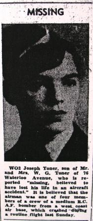 Newspaper clipping – From Guelph Mercury, January 13, 1944